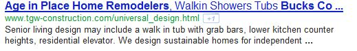 Google SERP Age In Place Remodeling