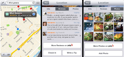 iPhone Maps Business Listings