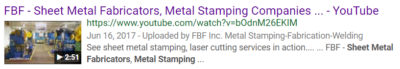 Video for Manufacturing Companies